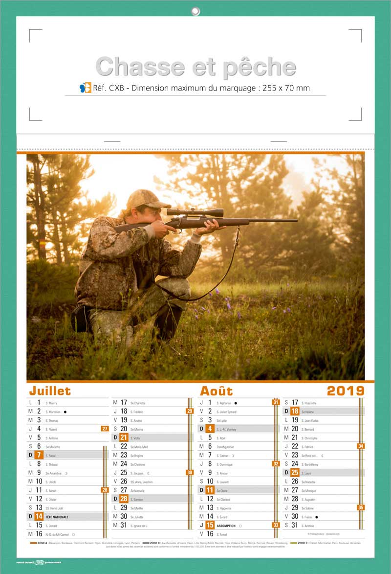 calendrier CXB